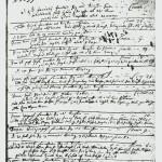 Den første sida i kirkeboka for Selbu ført med Christen Blochs hånd.