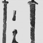 Gravfunn fra begynnelsen a vikingetiden fra Sandvik.