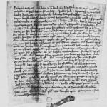 Diplomet fra 1340 med korsbrødrenes orskurd.
