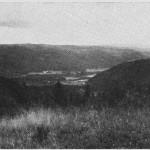 I høymiddelalderen gikk bosettinga langt høyere enn i dag. Fra Røet med utsikt mot Rønsberg og Stokke.