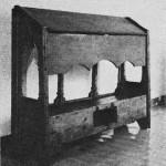 Middelaldersk lesestol fra Selbu kirke. Videnskabsselskabet.)