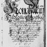Den praktfullt dekorerte «Kong. May. Vuldkommen ) ordbog Off uer gandsche Selbo Lehn» fra 1668.