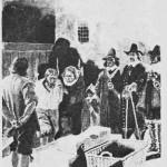 Oberst Kr ess' henrettelse.   Etter tegning av A. Bloch.