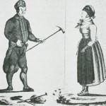 «Bergmana fra Trøndelagen med sin Pige». Etter tegning av J.F.L. Dreier,