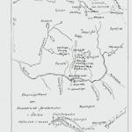 Kart over kvernfjellet. Tegnet av I.G. Haarstad.