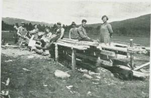 Gårdssag i Sirum 1924.