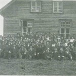 Fra amerikanernes besøk i 1914. Utenfor «Gimle».