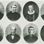 Ordførerne  1838-1916.   Øverste  rekke {.v.:   H.E.  Sandborg,  O.  Sesseng, H.H.E. Tybring, I. Norbye, nederst: A.B. Hansteen, I. Flørnes, J.J. Klegseth, O. Henmo.