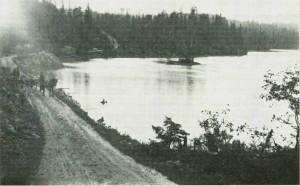 Gamle Mostadmarkveien forbi Halvfartjenna. Toto E. Jenssen