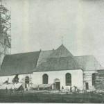 Fra restaureringen 1888. Foto E. Jenssen