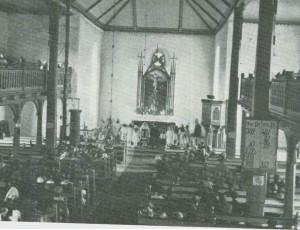 Fra Selbu kirke i 1920-åra. Foto Bj. Sirum