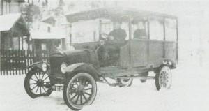 Peder O. Balstad i Hommelvik med «Forden» i 1921.