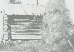 Morsetjari-loddo ved Djupåa ved Sørungen omkring 1930. Den var trulig full av høy, etter som det står høystakk like ved.