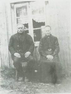 Haldor og Guru var de første sjøleiere på Sandvikstrøa. Bildet er fra de første 1900-åra.