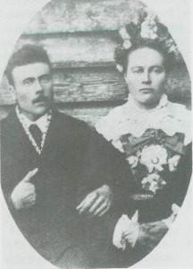Anders Jonsen Uglem ble i 1887 gift med tydalingen Berte Østby.