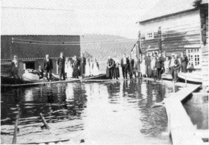 Begravelse på Sjursøya våren 1938.