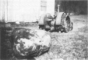Det ble brukt traktor i våronnarbeid på Domvollan så tidlig som i 1930.