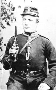 Nils Gunnarsen Gullset på militærtjeneste i 1892.