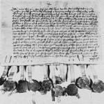 Diplomet fra 1433 der Jon Erikson stadfestet selbyggenes avtale med erkebispen.