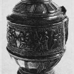 Tysk leirkrukke fra 1590. Fra Eidem (Videnskabselskabet.)