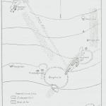 Høyås gruve eller Gammelgruvefeltet. Terrenget heller sterkt mot nord. Etter NGU nr. 129.