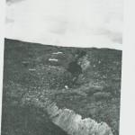 De lange, dype skar i fjellet vitner om hundreårs slit. Foto P. Birch.