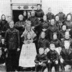 Bryllupet til John og Brynhilal Sæter i 1886.