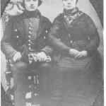 Anne Jonsdt. og Bardo Persen like etter de giftet seg og tok over gardsdrifta.